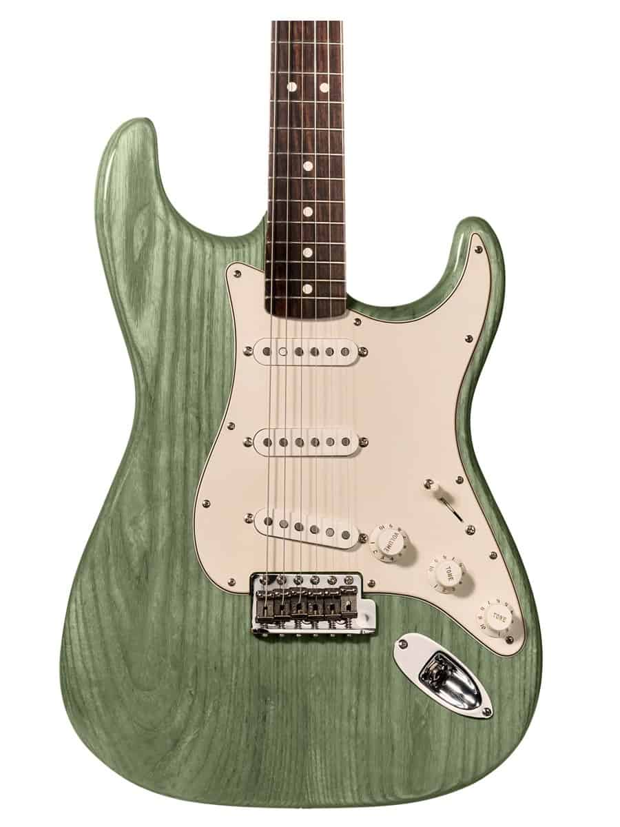 tinte verde para guitarra y aprende como tintar madera guitarra